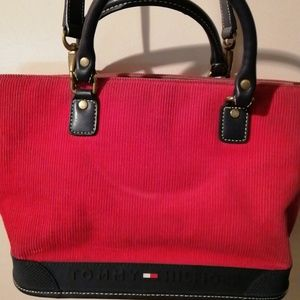 Tommy Hilfiger Red Tote with shoulder strap